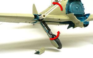 零式艦上戦闘機21型 主脚の格納ギミック
