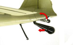 零式艦上戦闘機21型 尾輪の格納ギミック