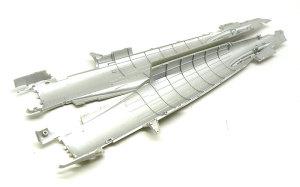 零式艦上戦闘機21型 透け防止に銀を塗る