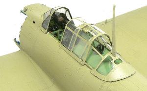 零式艦上戦闘機21型 コクピット内部が完成