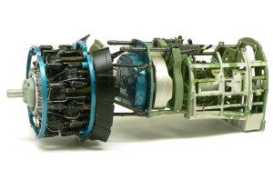 零式艦上戦闘機21型 エンジンとコクピット