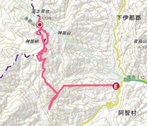 富士見台高原の地図