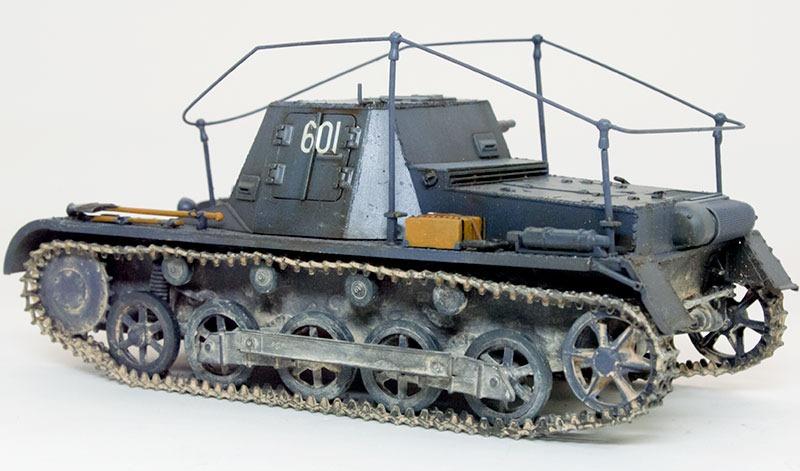 履帯の取り付け 1号B型指揮戦車