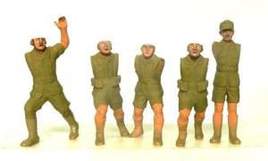 2号戦車の人形の顔の塗装
