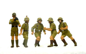 2号戦車の人形の吹くの塗装