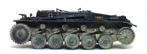 2号戦車B型 車体の泥汚れ