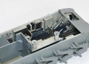 2号戦車B型 車体内部の塗装