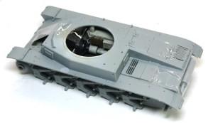 2号戦車B型 車体上下の貼り合わせ