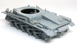 2号戦車B型 車体上部の組立て