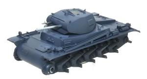 2号戦車B型 基本色の塗装