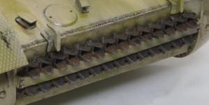 2号戦車F型 予備履帯の仕上げ
