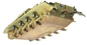 2号戦車F型 車体下部の汚し