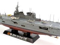 海上自衛隊最大級の護衛艦です。空母のように見えますが現用の戦闘機などの運用はできません。
