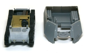 10.5cm榴弾自走砲39H(F) 戦闘室は取り外せる