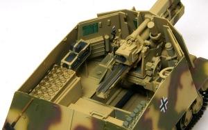 10.5cm榴弾自走砲39H(F) 細部の塗分け