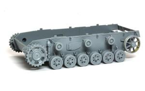 3号戦車J極初期型 足まわりの組立て