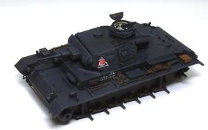 3号戦車J極初期型 ウオッシングとドライブラシ