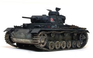 3号戦車J極初期型 足まわりの組み付け