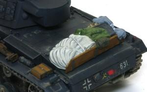 3号戦車J極初期型 荷物の塗装