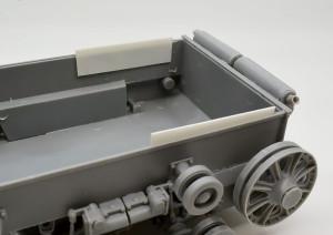 3号戦車B型 エンジンデッキを取り付けるためのダボ