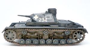 3号戦車B型 足まわりの組立て