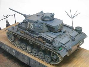 ドライブラシ 3号指揮戦車K型