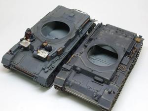 3号戦車と4号戦車の砲塔リング