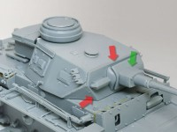 溶接痕の追加 3号指揮戦車K型