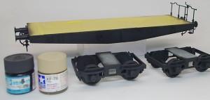 貨車の基本塗装 荷台と暗色