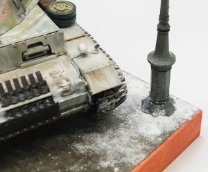 街路灯と雪を追加