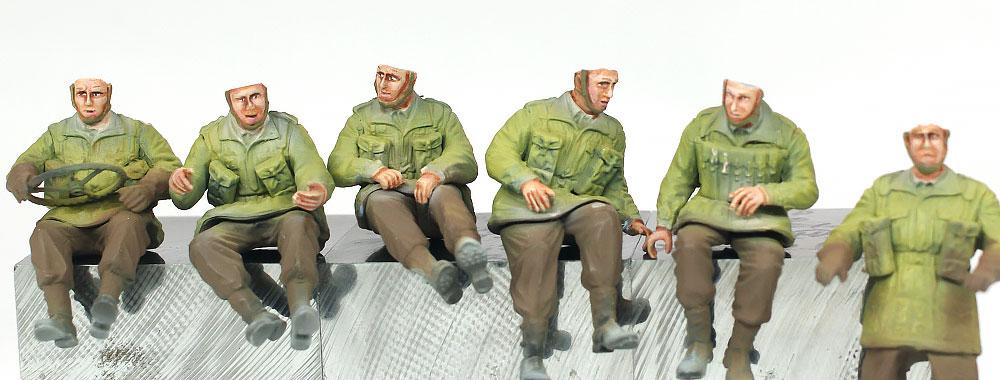 6ポンド対戦車砲 空挺部隊 / 1/4tトラック フィギュアの顔の塗装