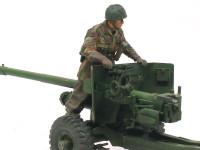 フィギュアの塗装 大砲に乗っている兵士