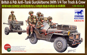 6ポンド砲と1/4tトラック 1/35 ブロンコ