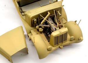 8tハーフトラック 1943年型 エンジンルーム
