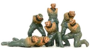 ドイツ歩兵・機関銃チームセット 顔の塗装