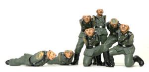 ドイツ歩兵・機関銃チームセット 服の塗装