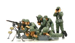 ドイツ歩兵・機関銃チームセット 機関銃を作った