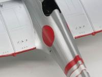 翼端の赤は筆塗り