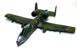 A-10Aサンダーボルト2 ツヤ消しクリアでオーバーコート