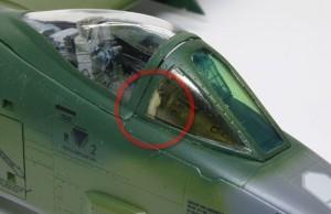 A-10Aサンダーボルト2 クリアパーツに接着剤が流れてしまった