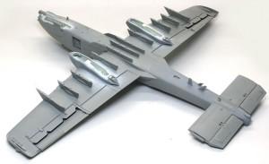 A-10Aサンダーボルト2 機体の仮り組み