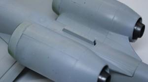 A-10Aサンダーボルト2 エンジンが平らに整形された