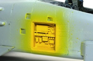 A-10Aサンダーボルト2 機体内部露出部の塗装