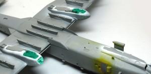 A-10Aサンダーボルト2 脚収納庫のマスキング