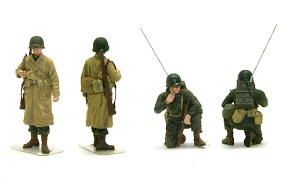アメリカ歩兵・ラインへの進軍 塗ってもいい2名だけ先に塗装
