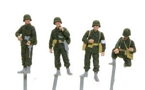 アメリカ歩兵・ラインへの進軍 顔と服の塗装