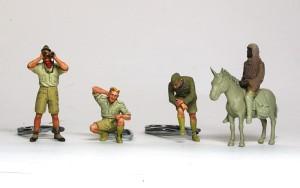 ドイツ戦車兵・アフリカ軍団 顔と腕まで塗装