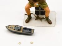 艦載艇と浮き輪