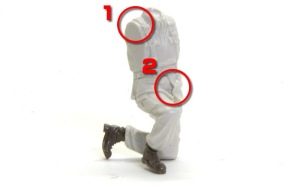 地球連邦軍・対MS特技兵セット 上着の裾の削り込み