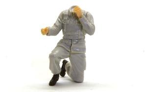 地球連邦軍・対MS特技兵セット 袖口の彫り込み